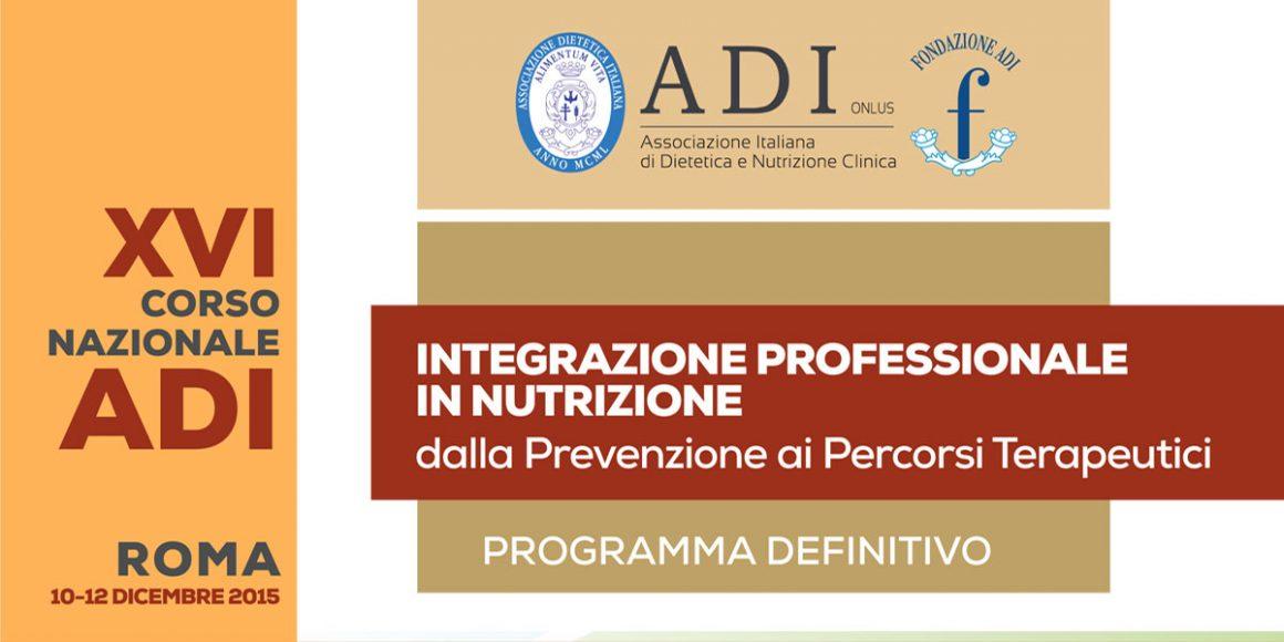 XVI Corso Nazionale ADI – Integrazione Professionale in Nutrizione