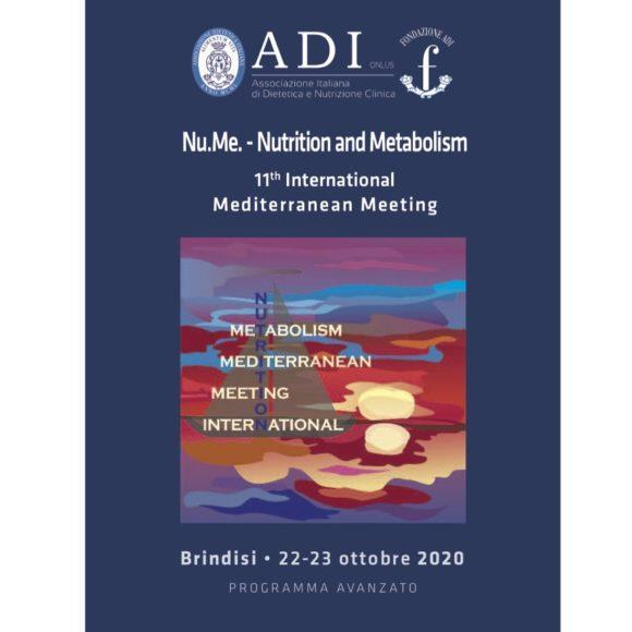 NU.ME Nutrition and Metabolism – 11° International Mediterranean Meeting