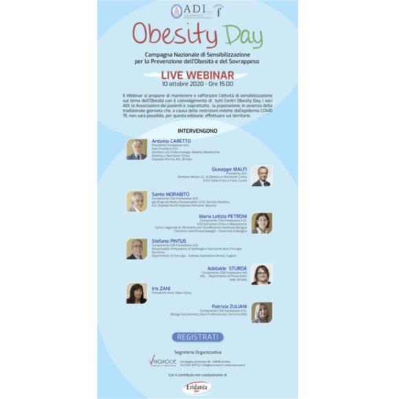 Obesity Day – Campagna Nazionale di Sensibilizzazione per la Prevenzione dell'Obesità e del Sovrappeso