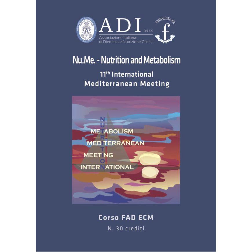 Corso FAD Nu.Me. – Nutrition and Metabolism 11th International Mediterranean Meeting