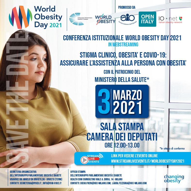 CONFERENZA ISTITUZIONALE WORLD OBESITY DAY 2021