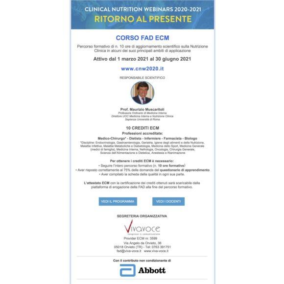 Clinical Nutrition Webinar  2020-2021  RITORNO AL PRESENTE