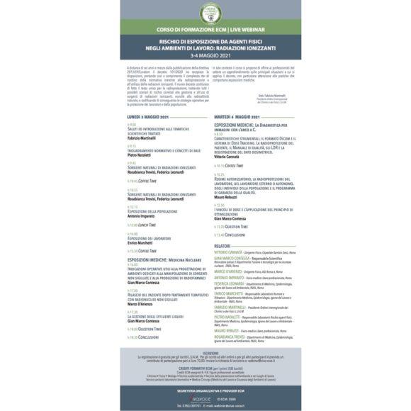 RISCHIO DI ESPOSIZIONE DA AGENTI FISICI NEGLI AMBIENTI DI LAVORO: RADIAZIONI IONIZZANTI