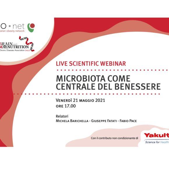 LIVE SCIENTIFIC WEBINAR – MICROBIOTA COME CENTRALE DEL BENESSERE